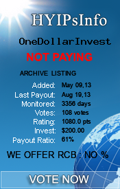 hyipsinfo.com - hyip one dollar invest