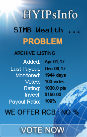 SIMB Wealth Management Ltd Monitoring details on HYIPsInfo.com