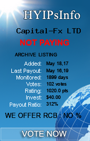Capital-Fx LTD Monitoring details on HYIPsInfo.com