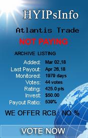 Atlantis Trade Monitoring details on HYIPsInfo.com