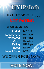 Oil Profit Limited Monitoring details on HYIPsInfo.com