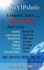 Elegant Earn Ltd Monitoring details on HYIPsInfo.com