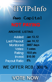 Awe Capital Monitoring details on HYIPsInfo.com