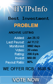 Best Investment Monitoring details on HYIPsInfo.com