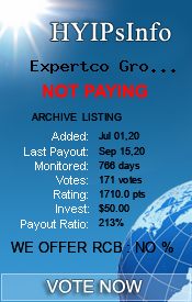 Expertco Group LTD Monitoring details on HYIPsInfo.com