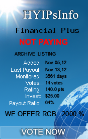Financial Plus Monitoring details on HYIPsInfo.com